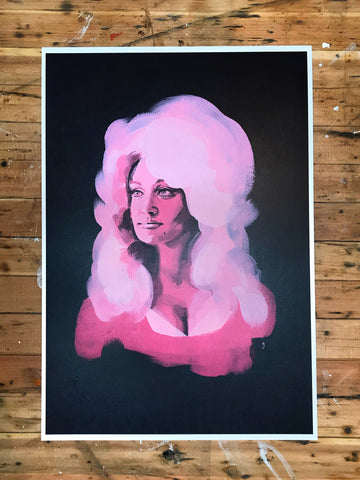 Cotton Candy Dolly Parton Print