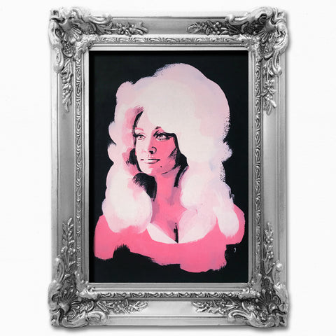 Limited Edition Dolly Parton Print on Black Velvet