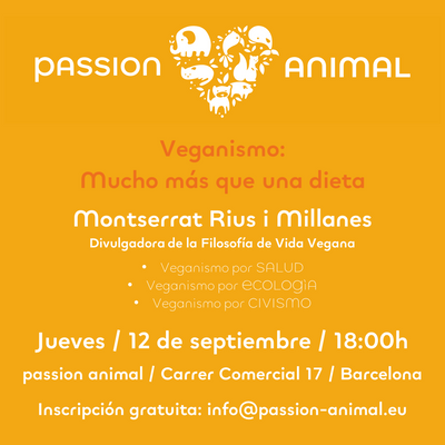 Talk on veganism as a holistic concept on 12th of September