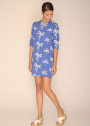 PEPALOVES / Dress Palm Tree / Blue