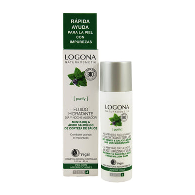 LOGONA / Moisturizing Fluid Day & Night Mint