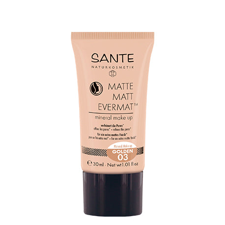 SANTÉ / Liquid Foundation Matte Matt EvermatTM Mineral Make up 03 Golden
