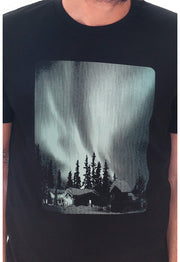 Art Shirt AURORA BOREAL / black