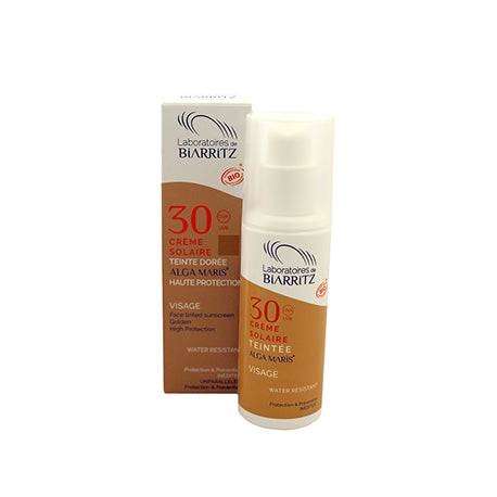 LABORATOIRES DE BIARRITZ / Alga Maris Certified Organic SPF30 Tinted Face Sunscreen / Golden