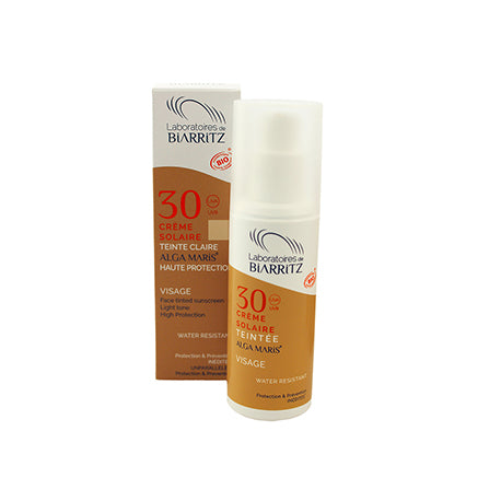 LABORATOIRES DE BIARRITZ / Alga Maris Certified Organic SPF30 Tinted Face Sunscreen / Light