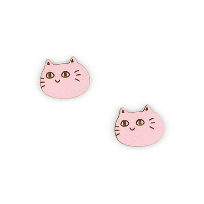 Stud Earrings Cat Face