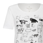 THOKKTHOKK / 90Cats TT64 T-Shirt Woman / White