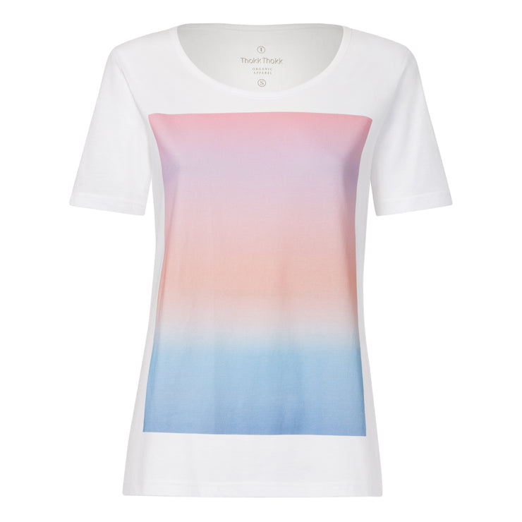 Colorboard Gradient TT64 T-Shirt white GOTS & Fairtrade