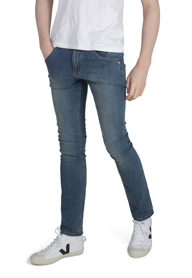 DEAN // Organic Slim Fit Jeans in Mid Wash (Beat)
