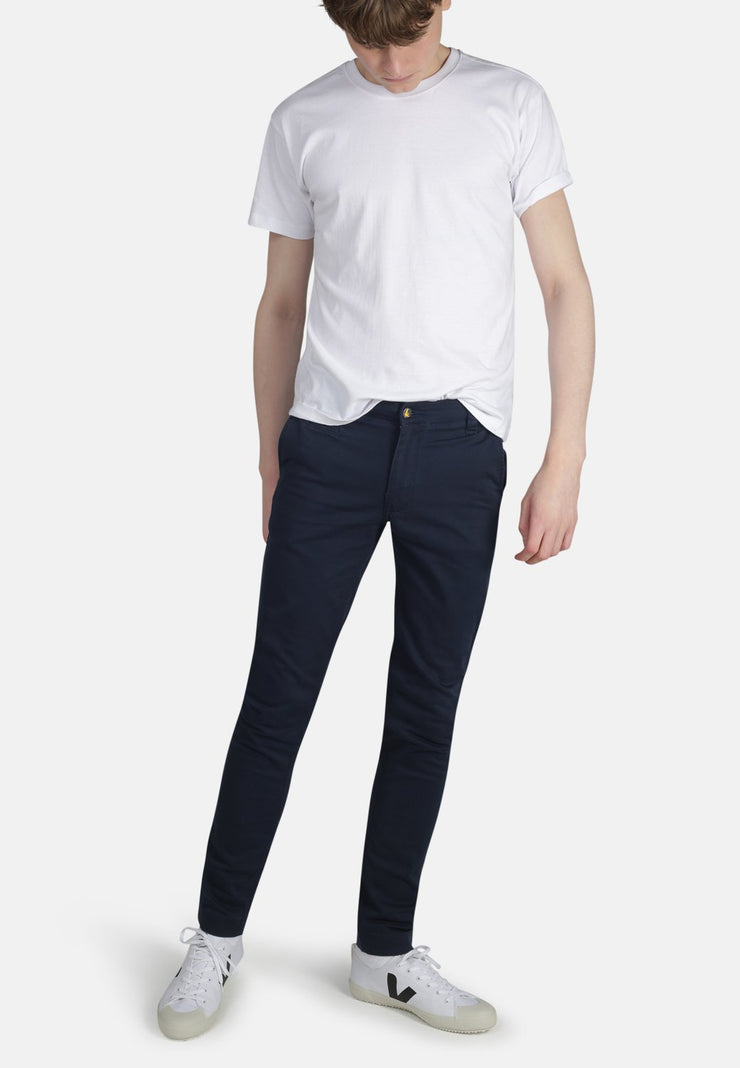 HARRY // Organic Sateen Skinny Chino in Navy
