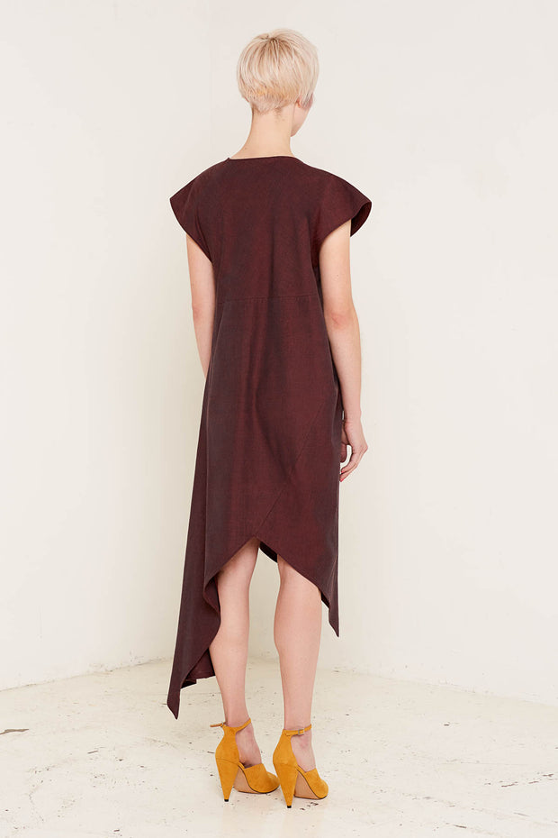 Heather Dress (Burgundy)