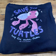 "PASSION ANIMAL / Hoodie Unisex ""Save the Turtles"" / Navy"