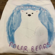 "PASSION ANIMAL / Hoodie Unisex ""Let's Save the Polar Bears"" / White"