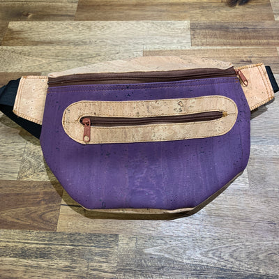 KORTEZA / Cork Fanny Pack 02 / Natural Cork with Violette