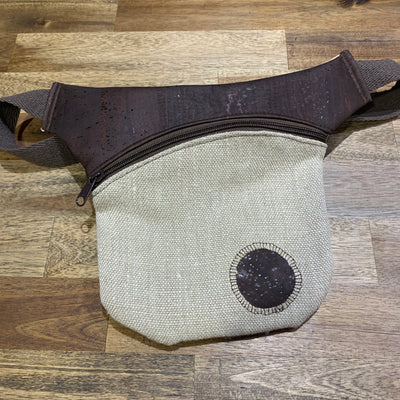 KORTEZA / Cork Fanny Pack 01 / Dark Brown Cork with Textile