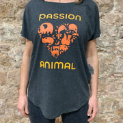 PASSION ANIMAL / T-Shirt Loose Fit PASSION ANIMAL Logo / Charcoal