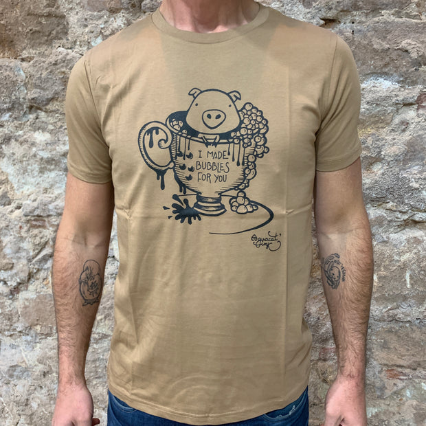 "PASSION ANIMAL / T-Shirt Unisex ""Bubbles"" Pig / Camel"