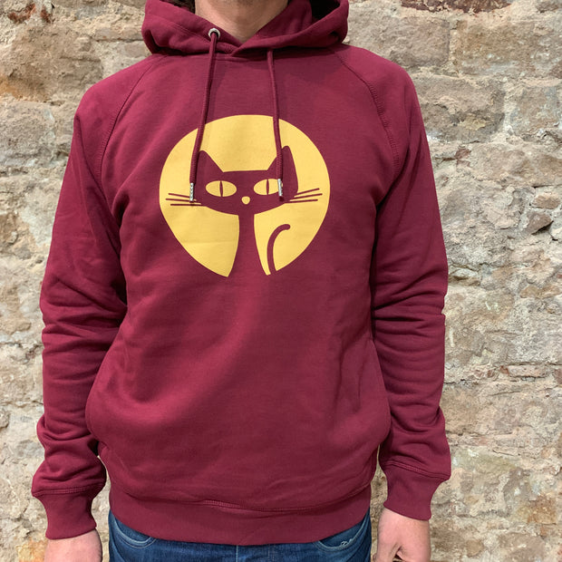 PASSION ANIMAL / Hoodie Unisex Gatito / Burgundy