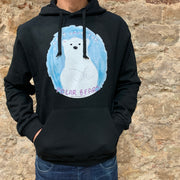 "PASSION ANIMAL / Hoodie Unisex ""Let's Save the Polar Bears"" / Black"