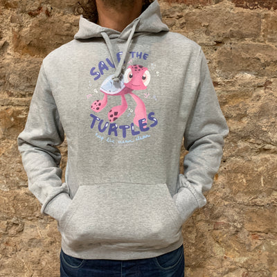 "PASSION ANIMAL / Hoodie Unisex ""Save the Turtles"" / Heather Grey"