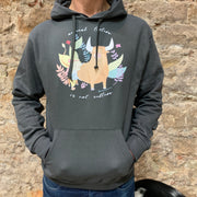 "PASSION ANIMAL / Hoodie Unisex ""Animal Torture is Not Culture"" / Anthracite"