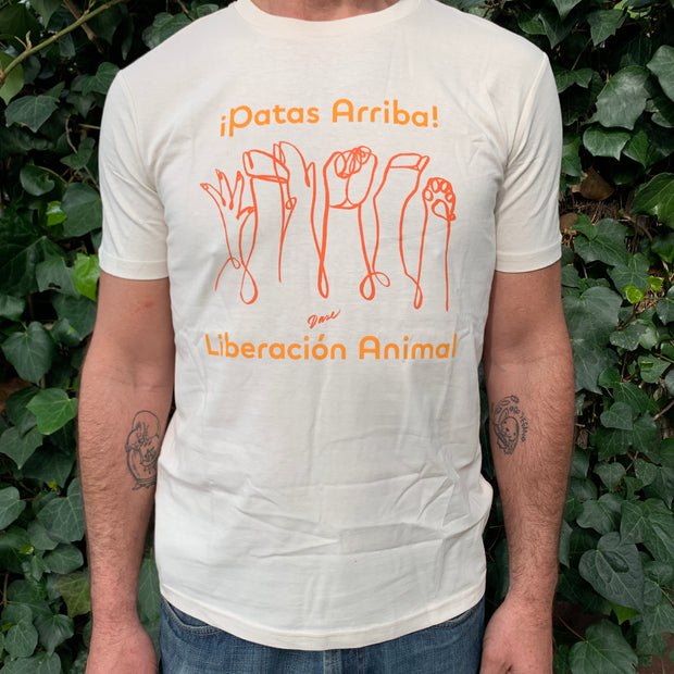 "PASSION ANIMAL / T-Shirt ""Patas Arriba"" / Vintage White"