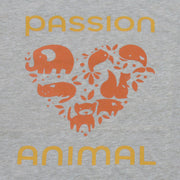 PASSION ANIMAL / T-Shirt Loose Fit PASSION ANIMAL Logo / Natural Melange