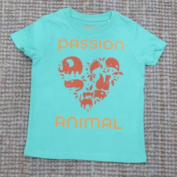 PASSION ANIMAL / T-Shirt Kids PASSION ANIMAL Logo / Chameleon Green