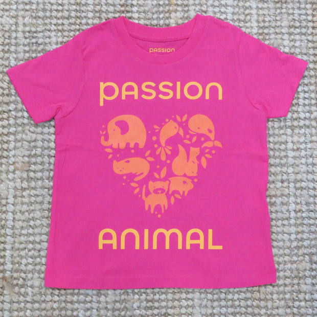 PASSION ANIMAL / T-Shirt Kids PASSION ANIMAL Logo / Raspberry