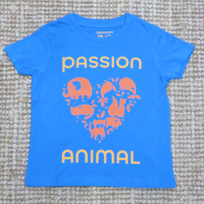 PASSION ANIMAL / T-Shirt Kids PASSION ANIMAL Logo / Azur Blue