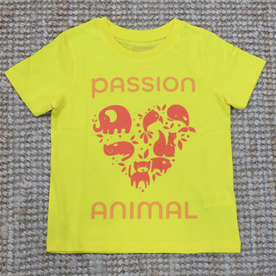 PASSION ANIMAL / T-Shirt Kids PASSION ANIMAL Logo / Golden Yellow