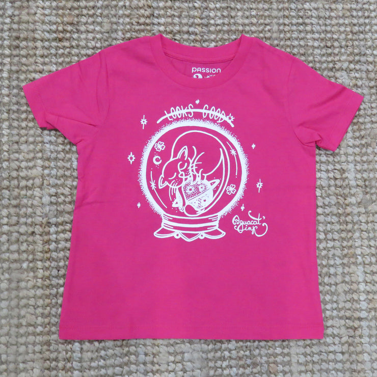 "T-Shirt Kids ""Looks Good"" Cat / Raspberry"