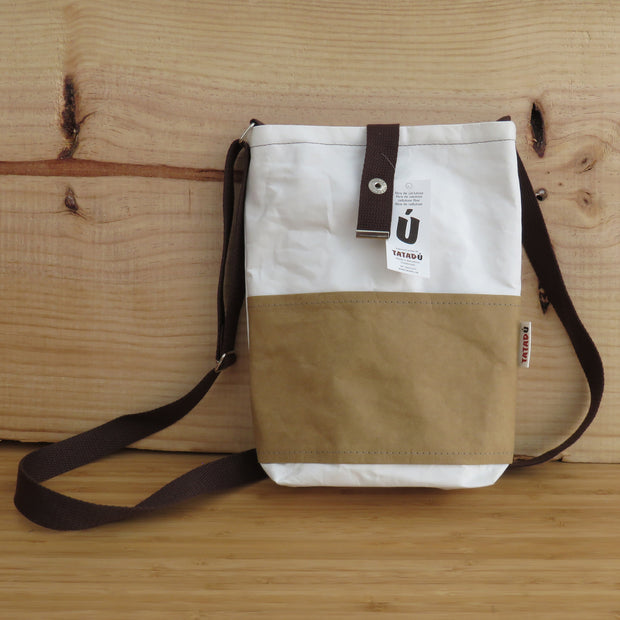 Shoulder Bag California / White-Kraft