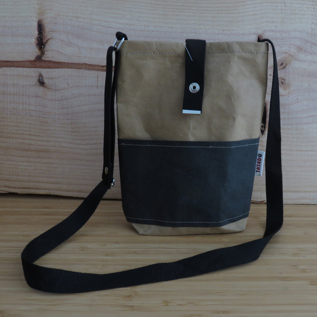 Shoulder Bag California / Kraft-Black
