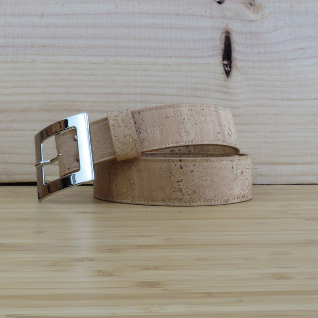 CORKOR / Women Cork Belt 40mm / Light Brown