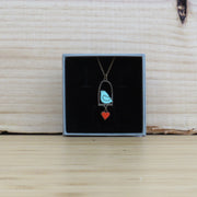 MATERIA RICA / Necklace Blue Bird & Love