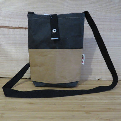 Shoulder Bag California / Black-Kraft