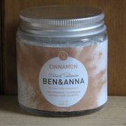 BEN & ANNA / Tooth Powder in Glass Jar / Cinnamon