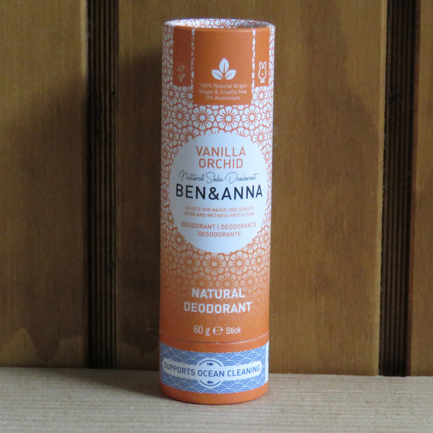 BEN & ANNA / Deodorant Stick in Papertube / Indian Mandarine