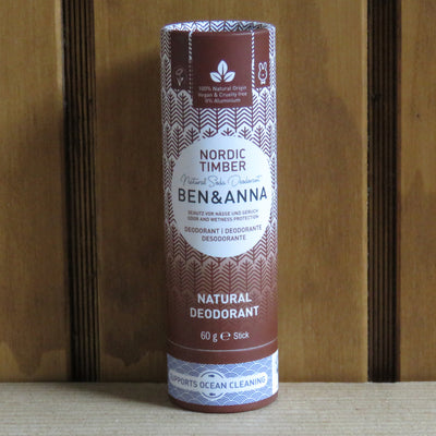 BEN & ANNA / Deodorant Stick in Papertube / Nordic Timber