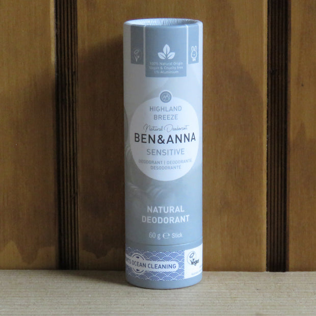 BEN & ANNA / Deodorant Stick in Papertube Sensitive / Highland Breeze