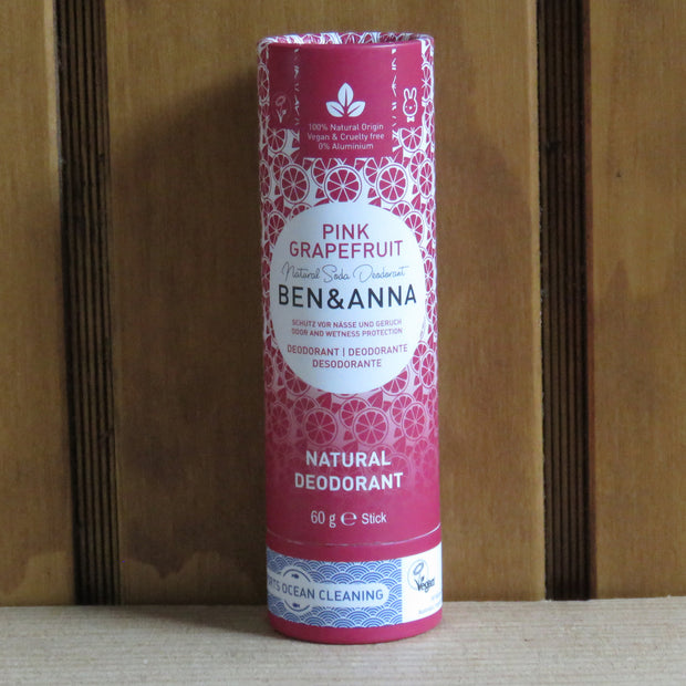 Deodorant Stick in Papertube Pink Grapefruit