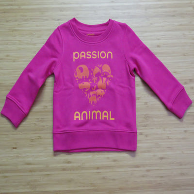PASSION ANIMAL / Sweater Kids PASSION ANIMAL Logo / Raspberry