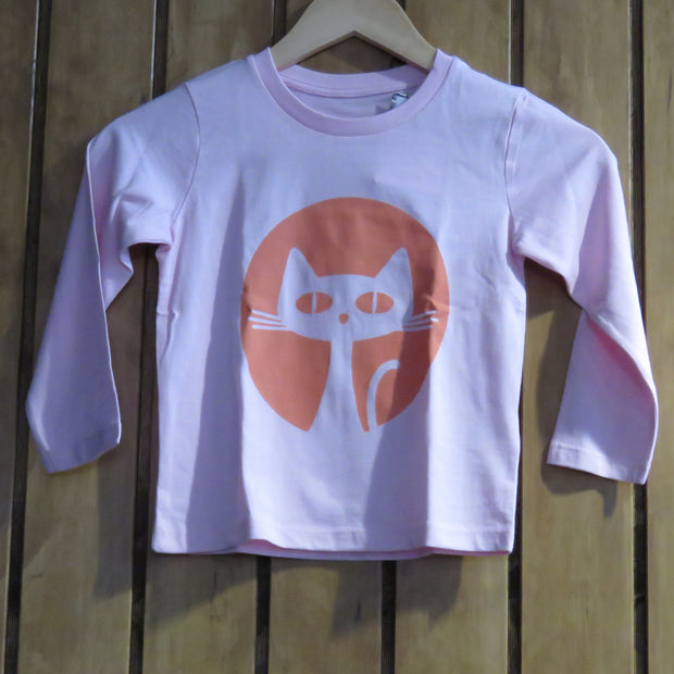 PASSION ANIMAL / Longsleeve Kids Gatito / Cotton Pink