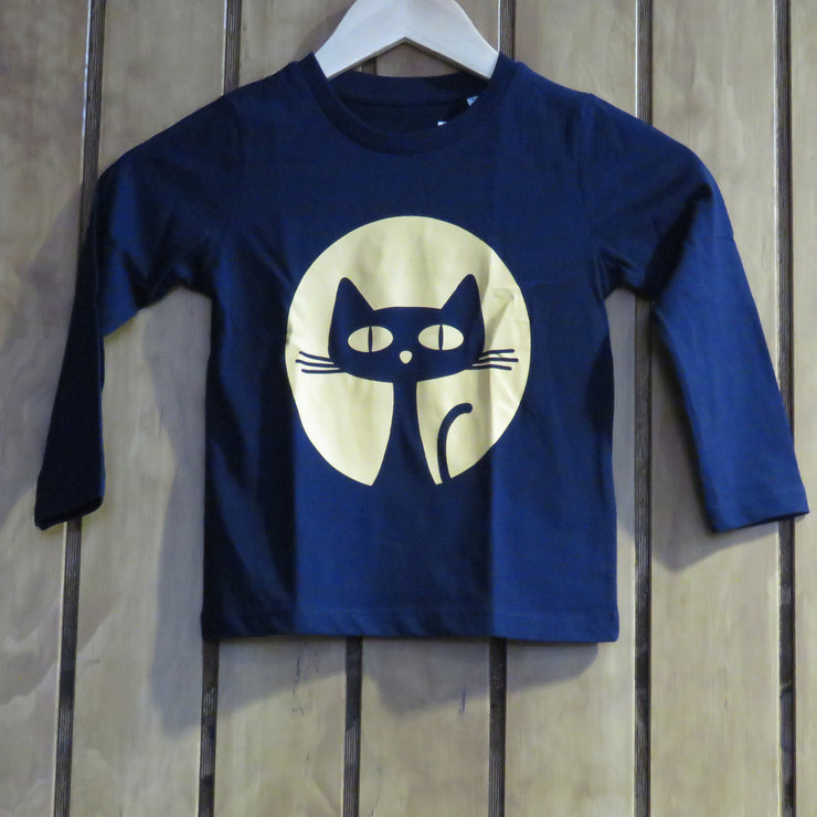 PASSION ANIMAL / Longsleeve Kids Gatito / French Navy