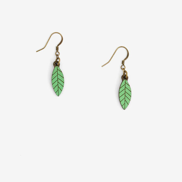 Earrings Leaf