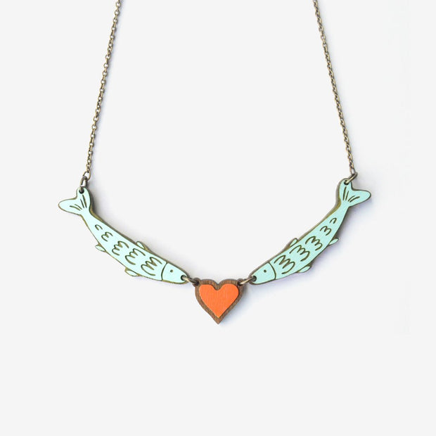 Necklace Love Fish