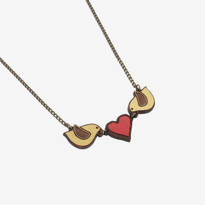MATERIA RICA / Necklace Love Birds