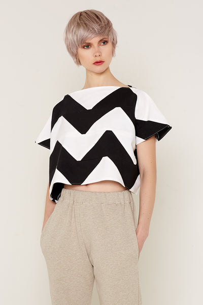Namaka Top (Black and White) (one size)
