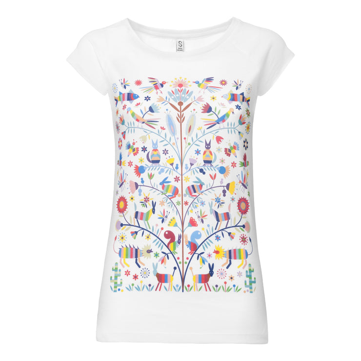Otomi Cap Sleeve white GOTS & Fairtrade